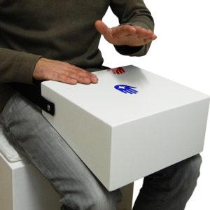 Bodybox zum Spielen auf dem Schoß